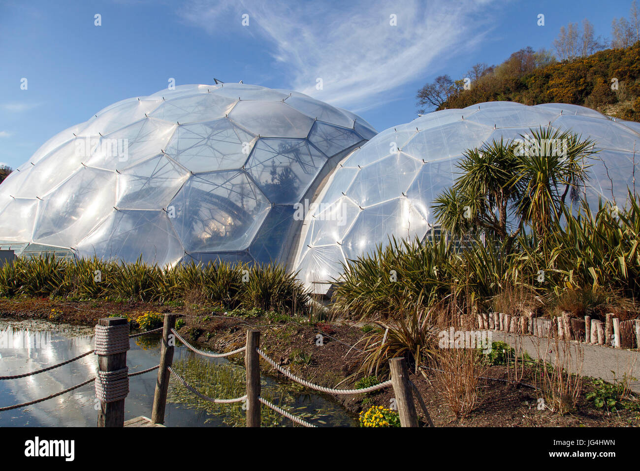 Eden Project - Biomes - Stock Image