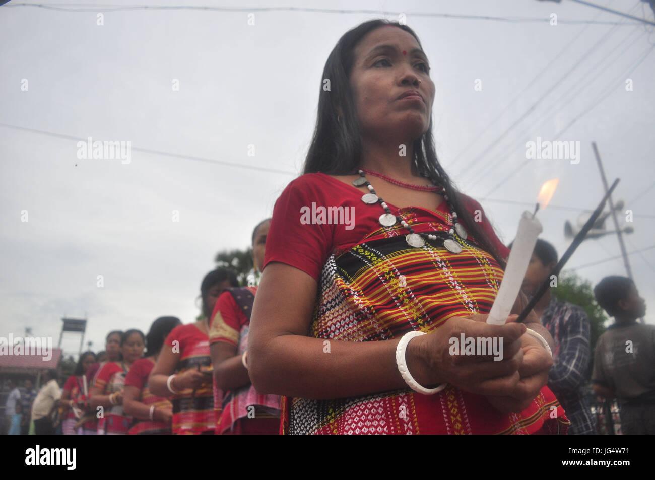 Abhisek Saha / Le Pictorium -  Kharchi Puja festival in India -  01/07/2017  -  India / Tripura / Agartala  -  Tribal Stock Photo