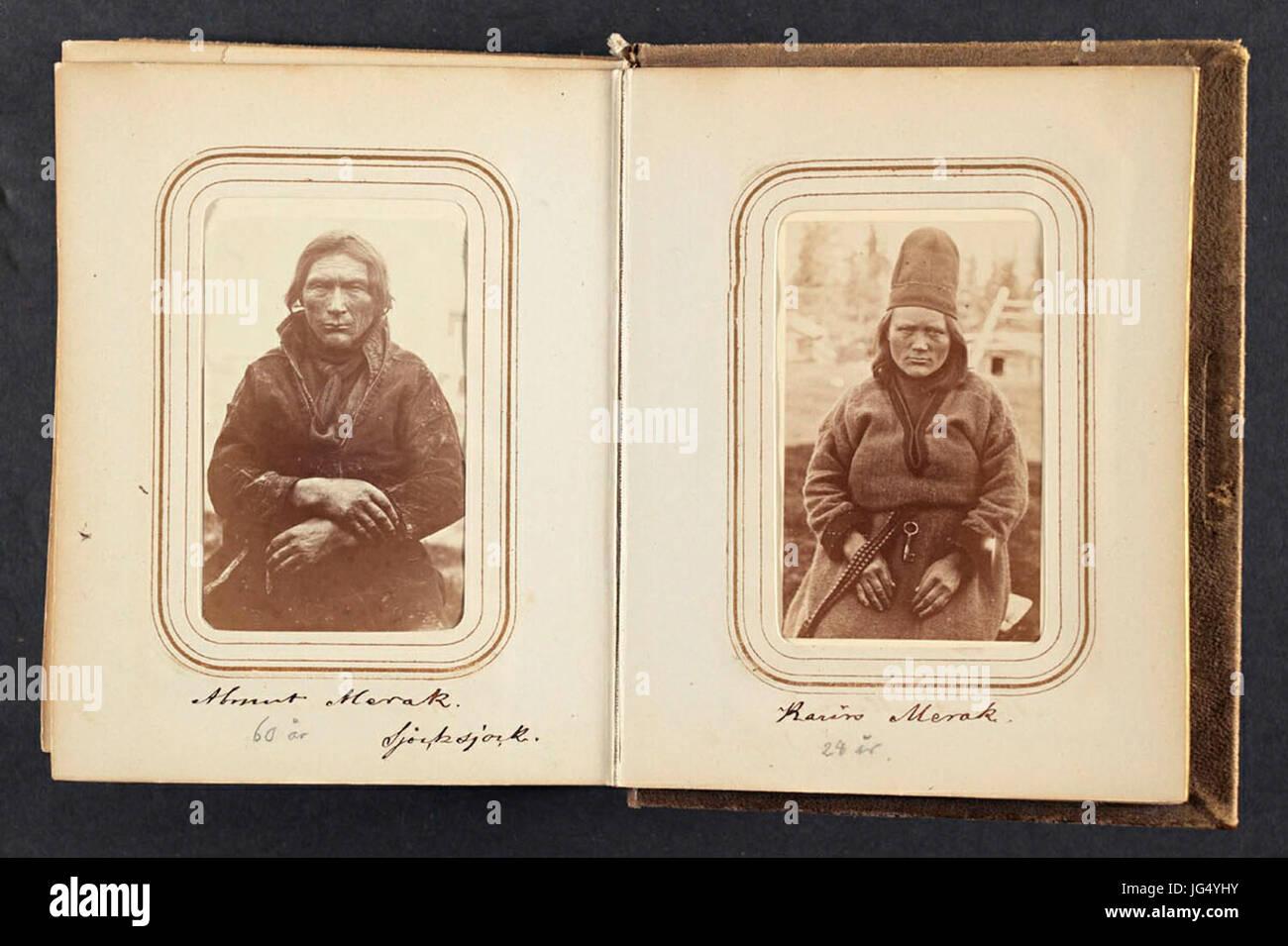 Porträtt av Karin Merak, 28 år gammal, Sjokksjokk. Lotten von Düben 1868 - Nordiska Museet - NMA.0033133 - Stock Image