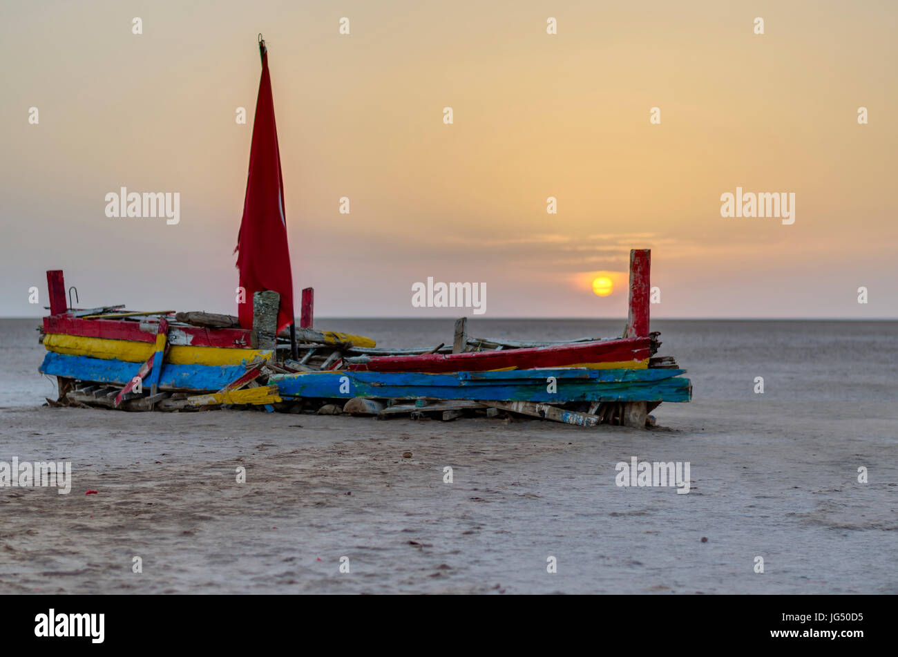 abandoned ship - Stock Image