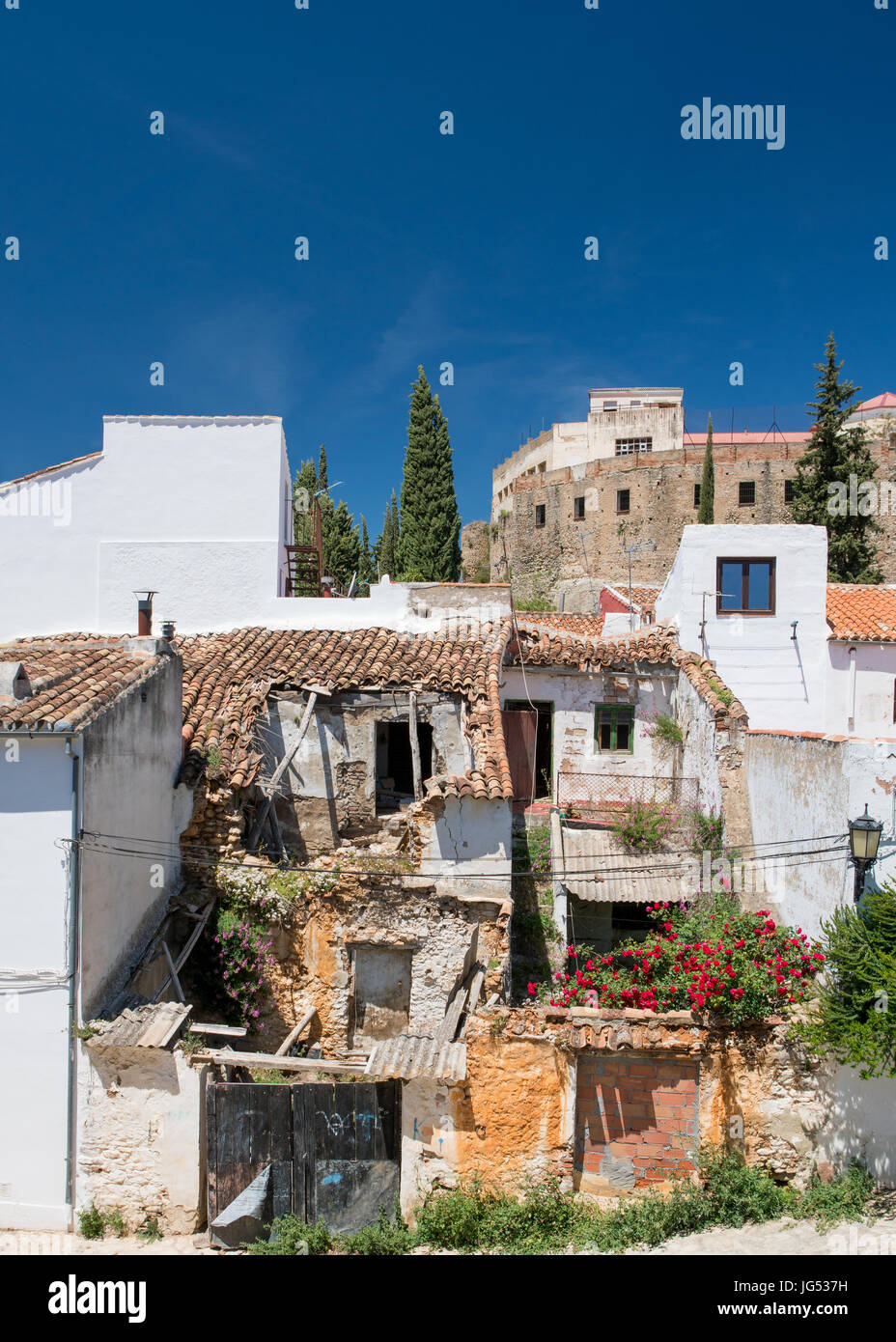 Abandoned Finca or townhouse in the City of Ronda in Spain's Malaga province, Andalusia Stock Photo