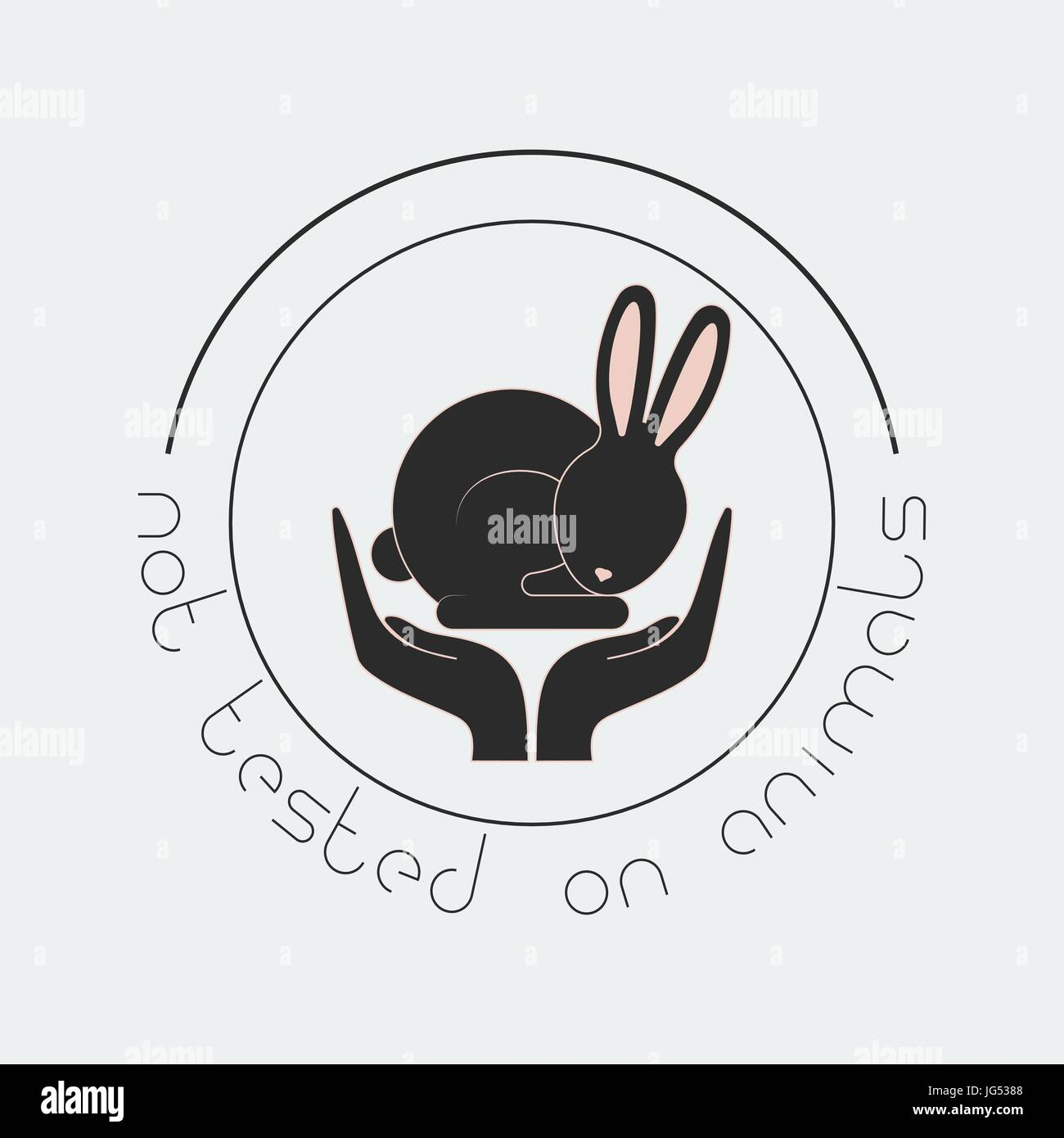 Animal Cruelty Free Logo Not Tested On Animals Symbol Stock Vector