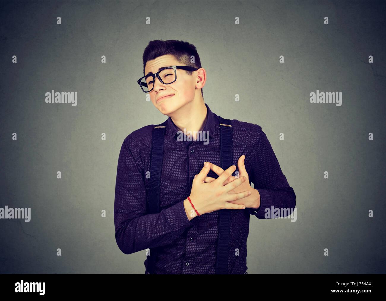 Heartbroken young man - Stock Image