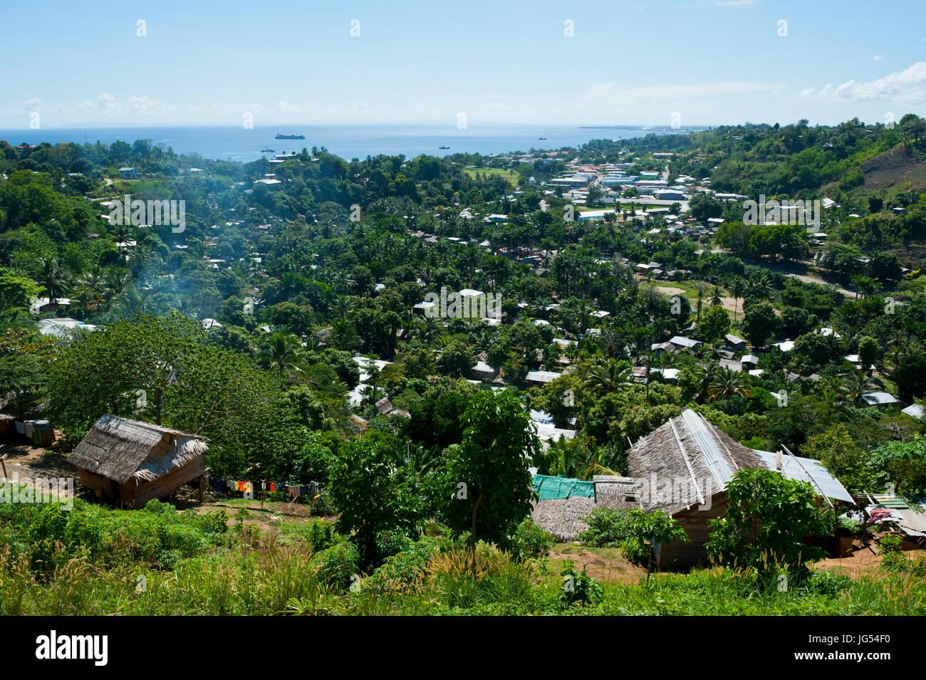 Overlook over Honiara, capital of the Salomon Islands, Pacific - Stock Image