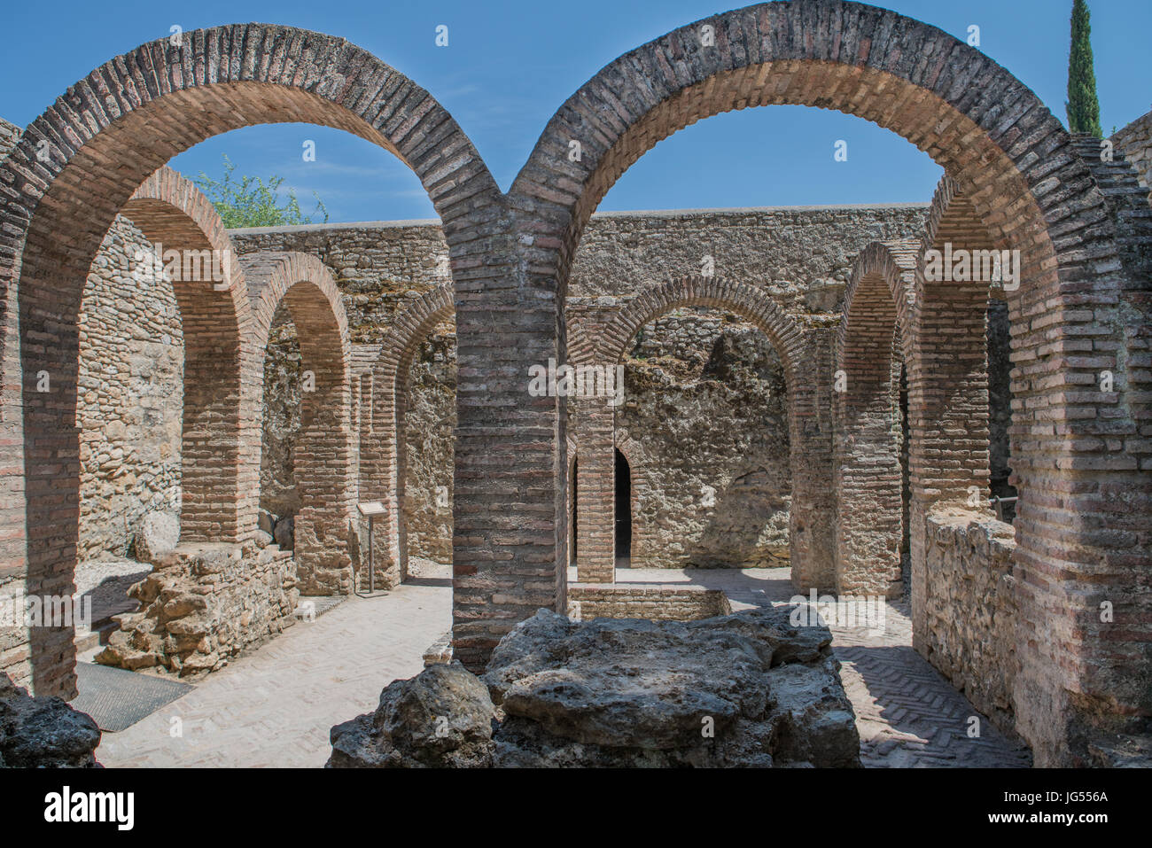 Arabic baths in Ronda. Built at the end of the 13th century during the reign of King Abomelik. The baths are located Stock Photo
