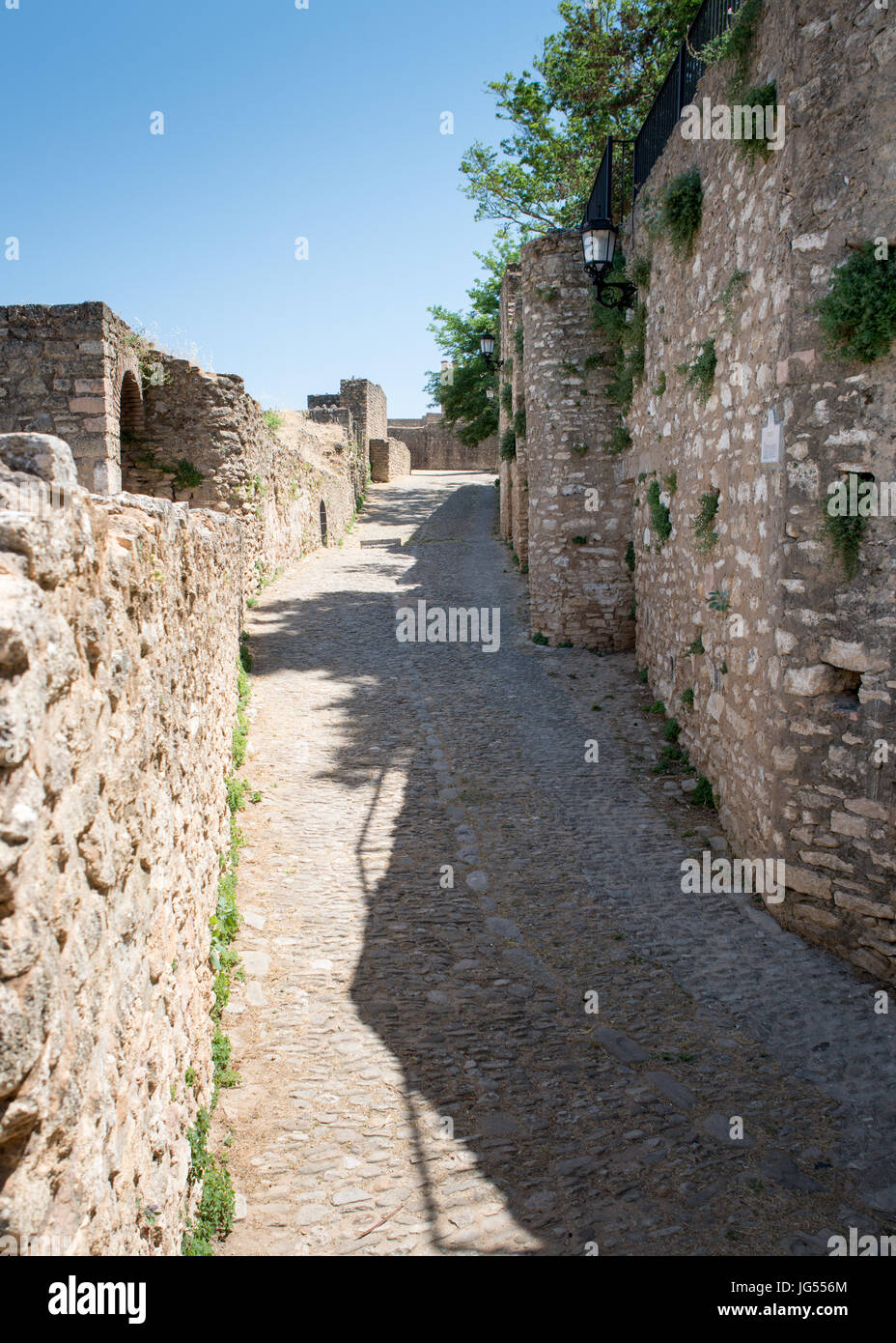 Ancient City Walls, Ronda, Andalucia, Spain Stock Photo