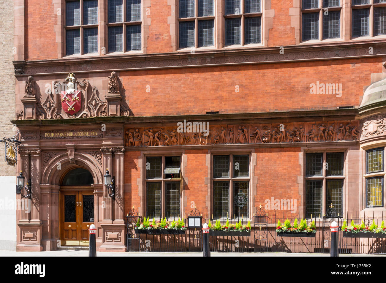 Cutler's Hall is the home of the Worshipful Company of Cutlers, one of the Livery Companies of the City of London. - Stock Image