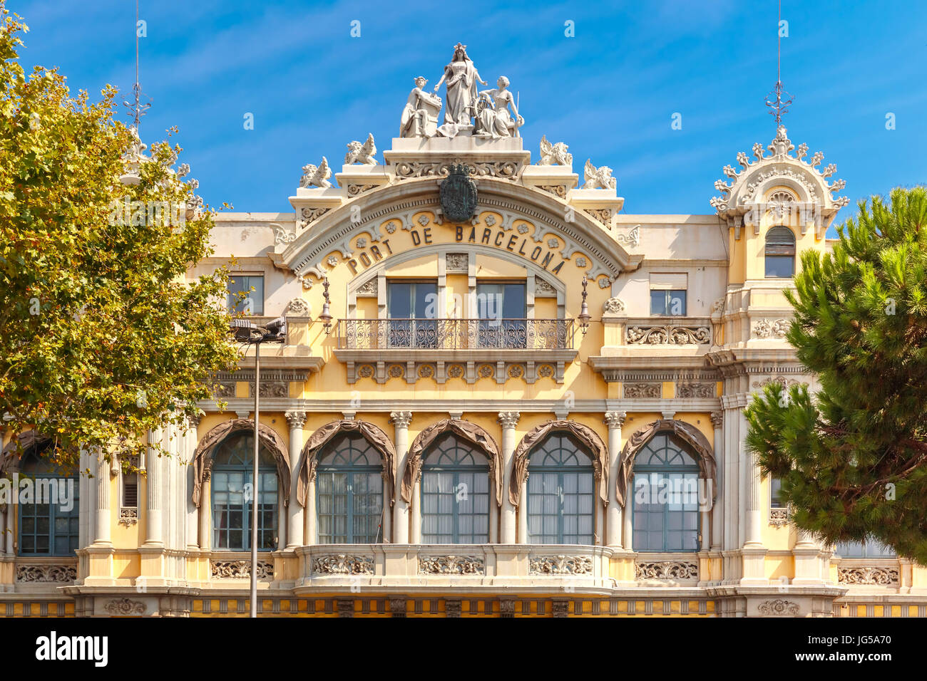 Port Authority Barcelona, Spain - Stock Image