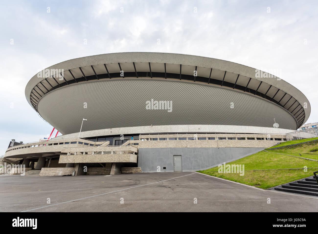 Sport arena in Katowice called Spodek, Silesia, Poland Stock Photo