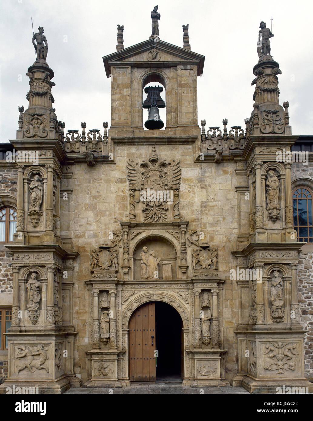 University of the Holy Spirit (Sancti Spiritus). Facade. Onate. Guipuzkoa, Spain. - Stock Image