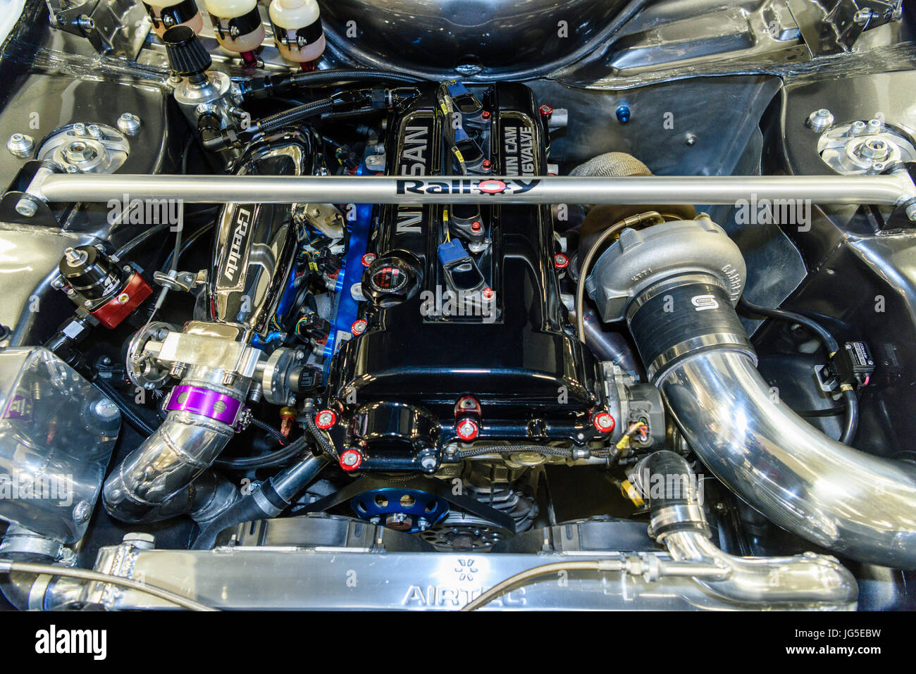 Twin Cam Engine Stock Photos S Alamy. Nissan Twin Cam 16 Valve Engine Very Clean With Supercharger And Rollbar In A. Nissan. Nissan Twin Cam 16 Valve Engine Diagram At Scoala.co