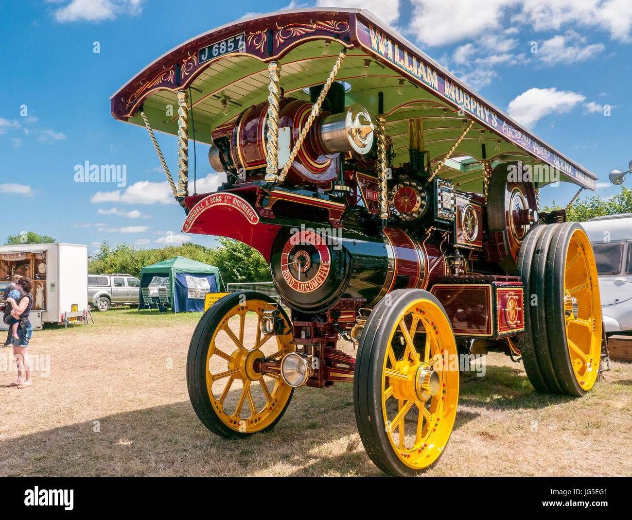 Showman`s Road Locomotive Traction Engine at a Steam rally - Stock Image