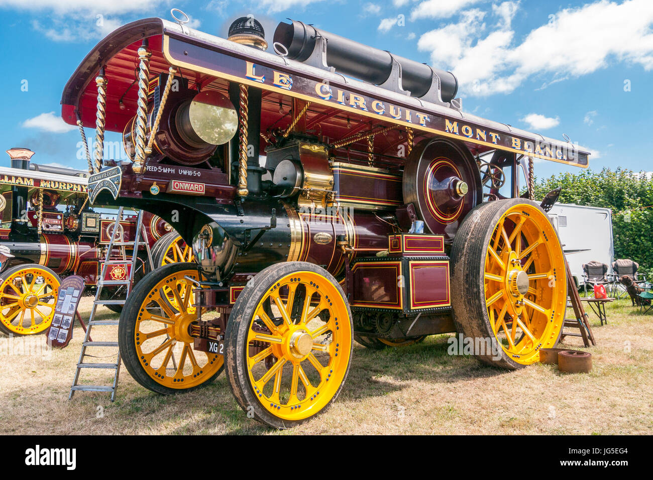 Showman`s Road Locomotive Traction Engines at a Steam rally - Stock Image