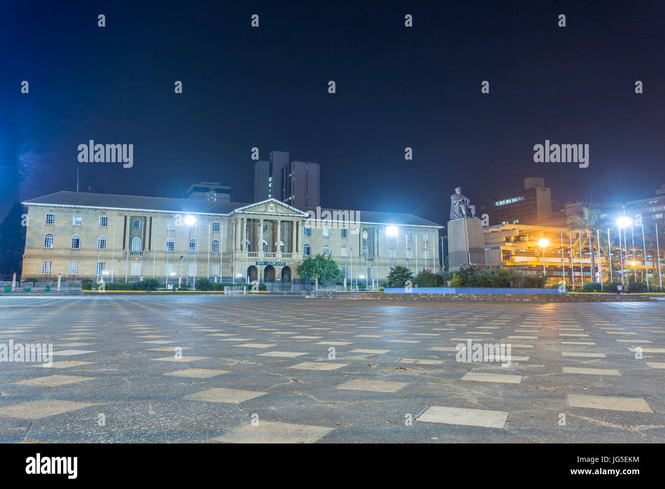Supreme court, The Judiciary building, Nairobi, Kenya - Stock Image