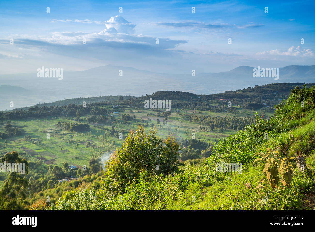 Great Rift Valley landscape taken from Mouse Summit, Kenya Stock Photo