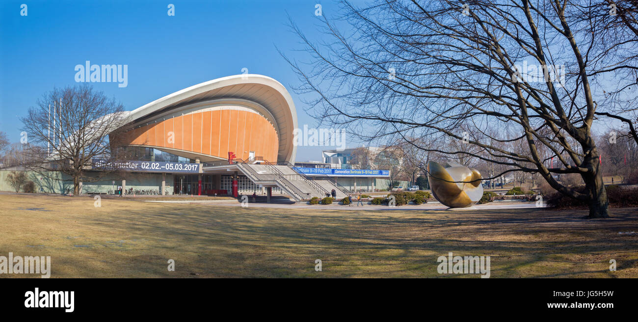 BERLIN, GERMANY, FEBRUARY - 13, 2017: The building House of the Cultures of the World (Haus der Kulturen der Welt). - Stock Image
