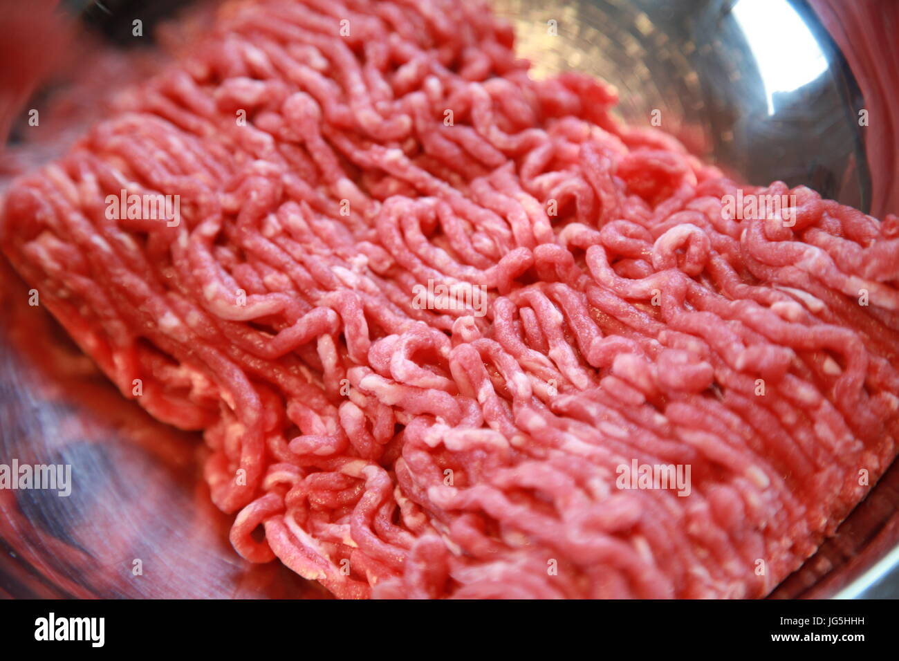 minced stake, cooking ingredients - Stock Image