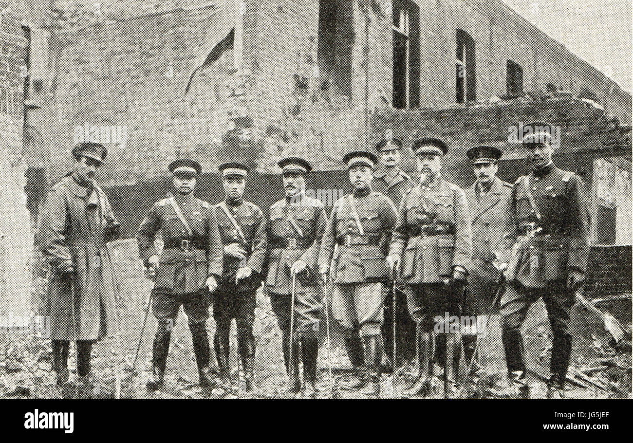 Chinese mission to Western Front, 1917 - Stock Image