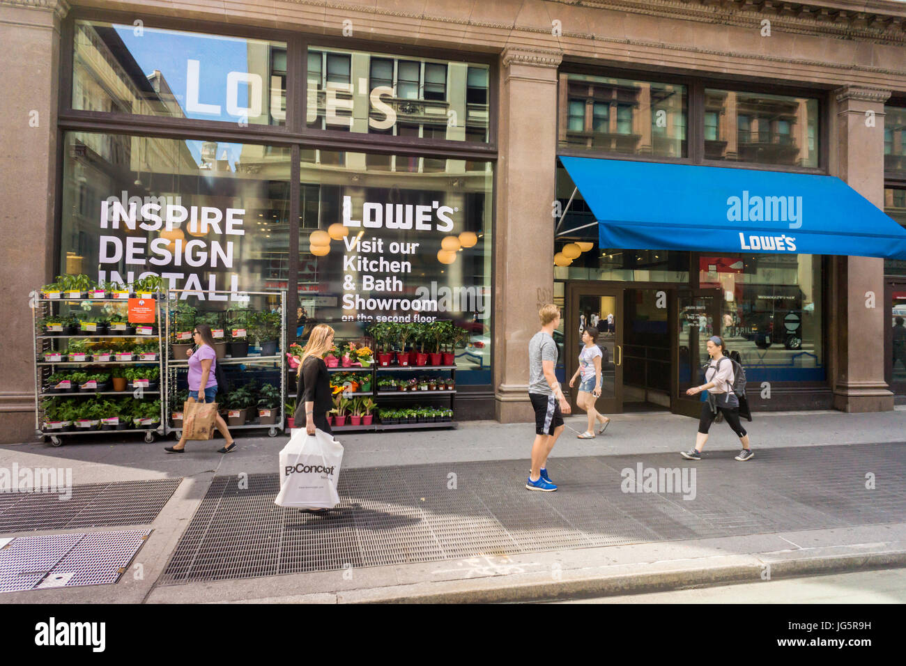A Lowe s urban-oriented home improvement store in New York on Stock ... 9e8669815c2