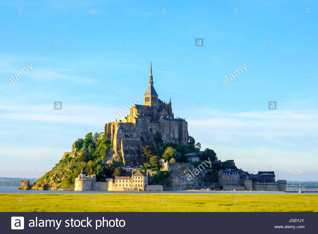France, Normandy (Normandie), Manche department, Le Mont-Saint-Miichel. - Stock Image