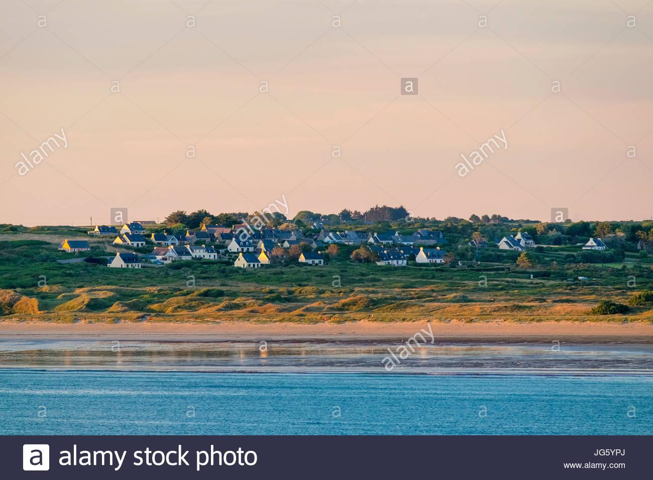 France, Brittany (Bretagne), Finistere, Crozon. Village of Kerloc'h, Presqu'ile de Crozon, Parc naturel - Stock Image