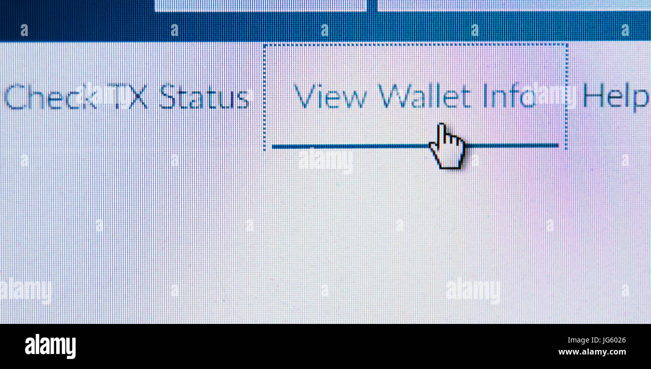 Digital wallet for crypto currency - Stock Image