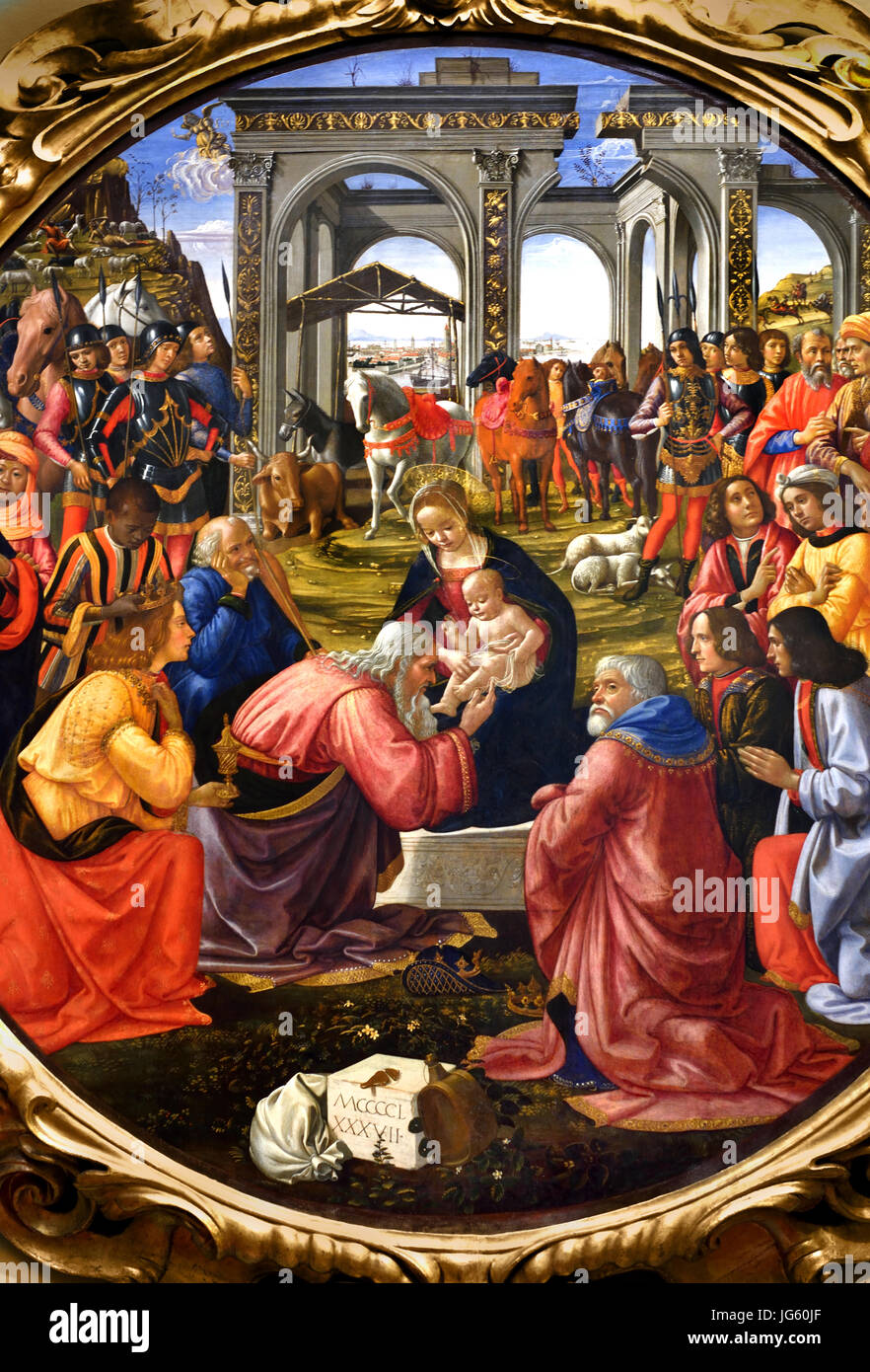Adoration of the Magi 1487 Domenico Ghirlandaio - Domenico di Tommaso  Curradi di Doffo Bigordi (1449–1494), painter of fresco cycles and  Michelangelo's ...