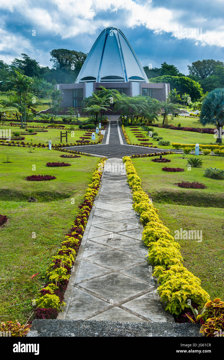 The Baha'i House of Worship Samoa, Upolo, British Samoa, South Pacific - Stock Image