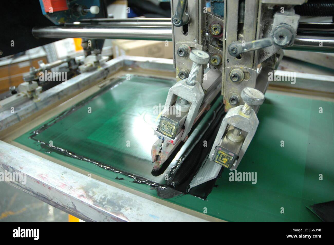 Automatic industrial screen printing machine branding t