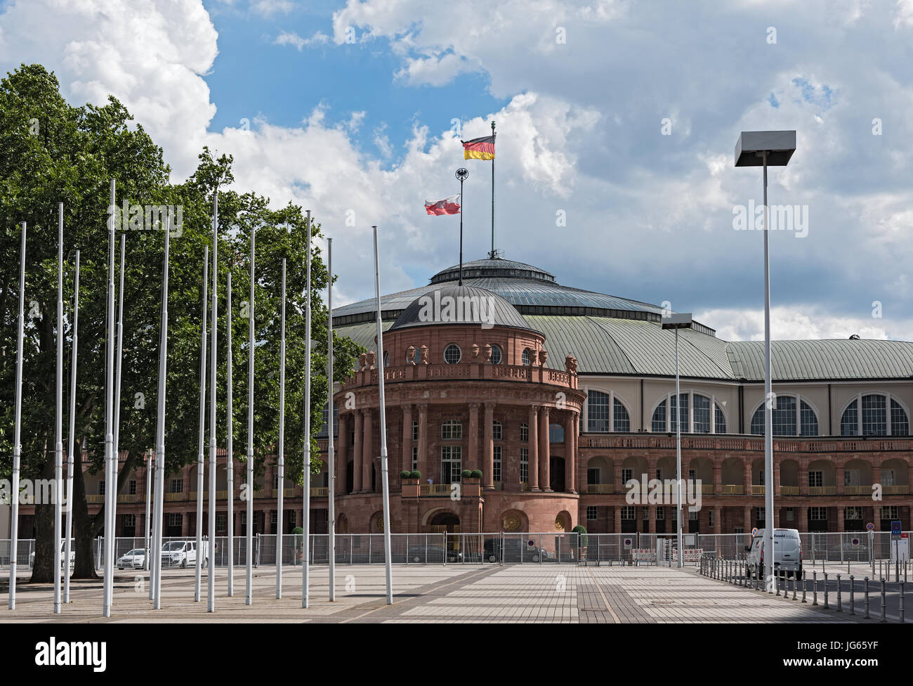 Festhalle Frankfurt, is a multi-purpose hall at the ttrade fair grounds of Frankfurt Stock Photo