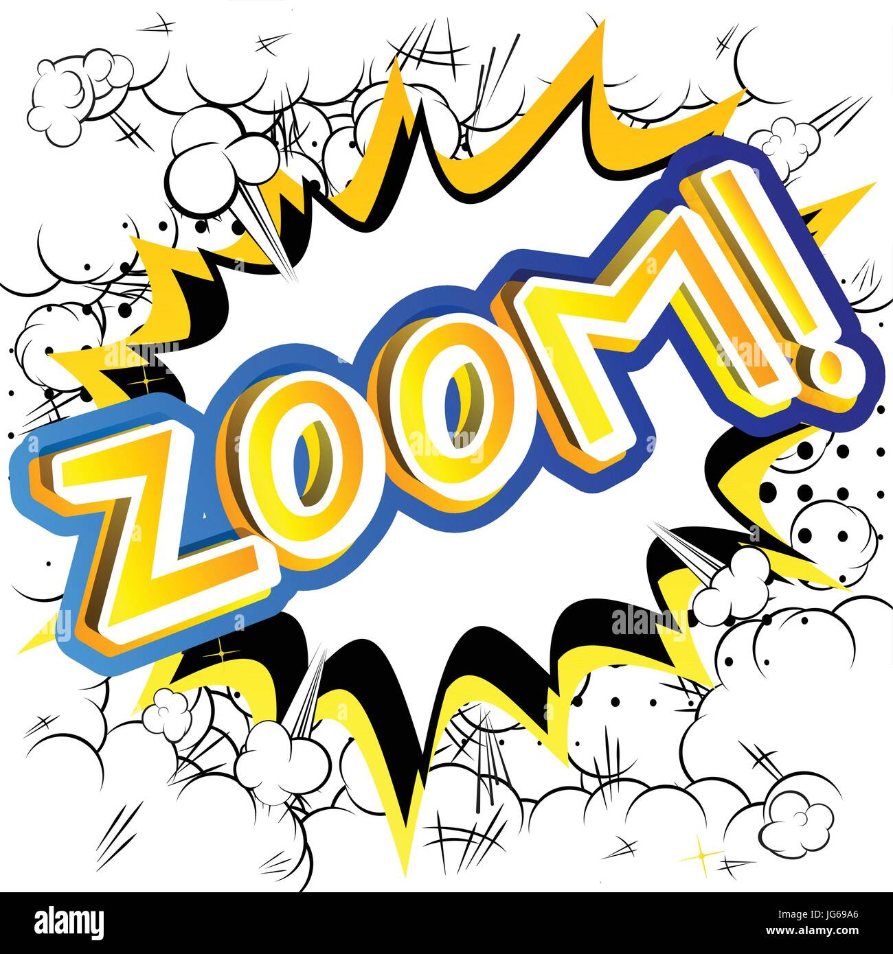 Zoom! - Vector illustrated comic book style expression. - Stock Image