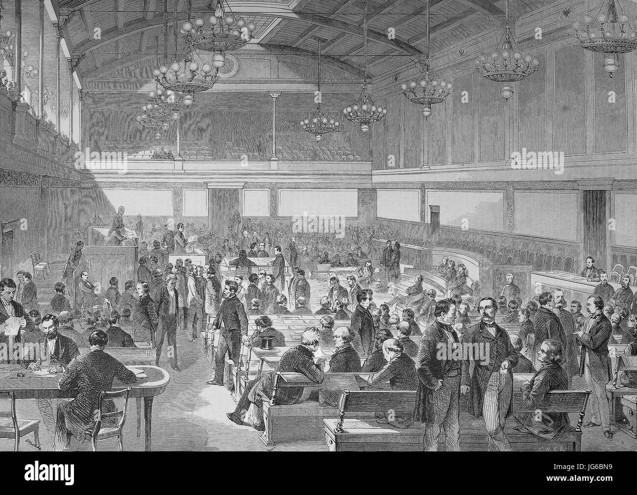 Digital improved:, Elections to the Zollparlament of the German Zollverein, held in February and March 1868, The - Stock Image