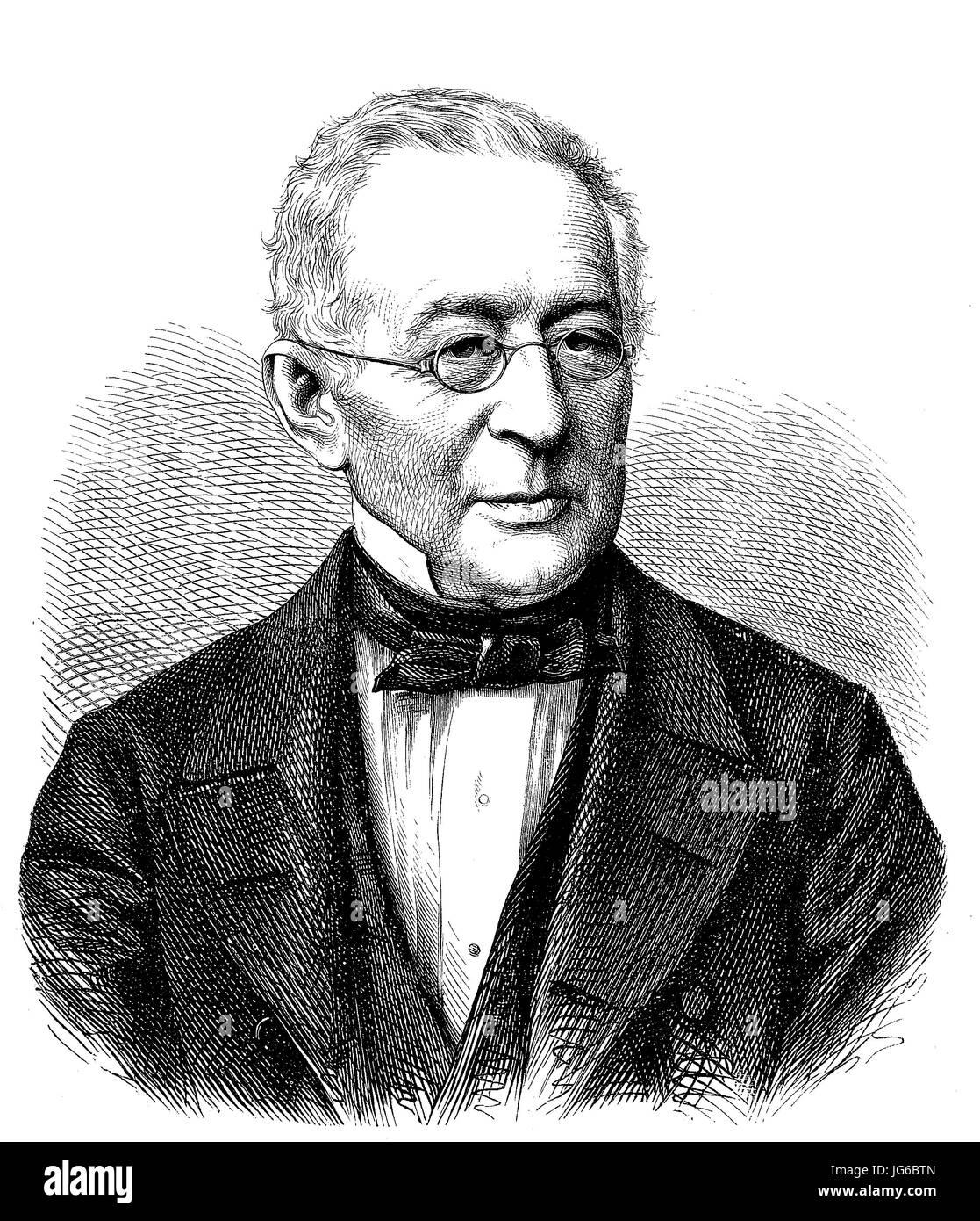 Digital improved:, Alexander Mikhailovich Gorchakov- 1798 - 1883, was a Russian diplomat and statesman, Russia, Stock Photo