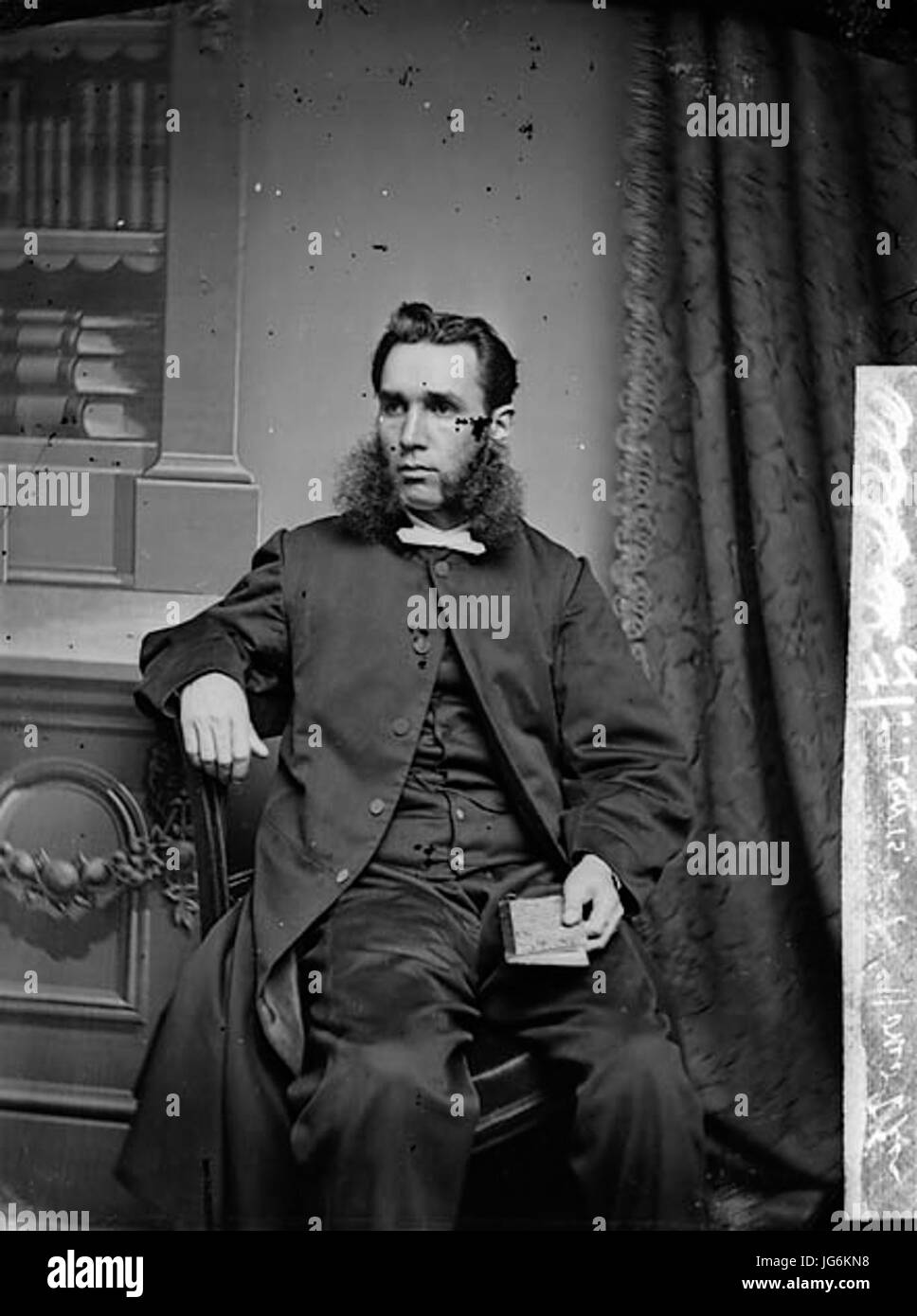 Revd John Wyndham Lewis 28Homo Ddu 1837-9529 NLW3362138 - Stock Image