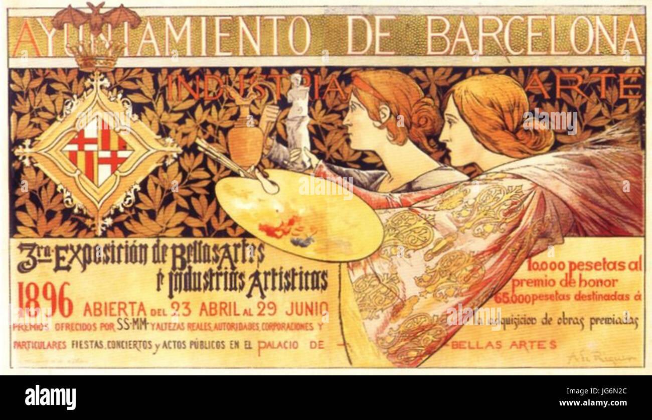 Riquer - III Expo Belles Arts BCN 28189629 - Stock Image