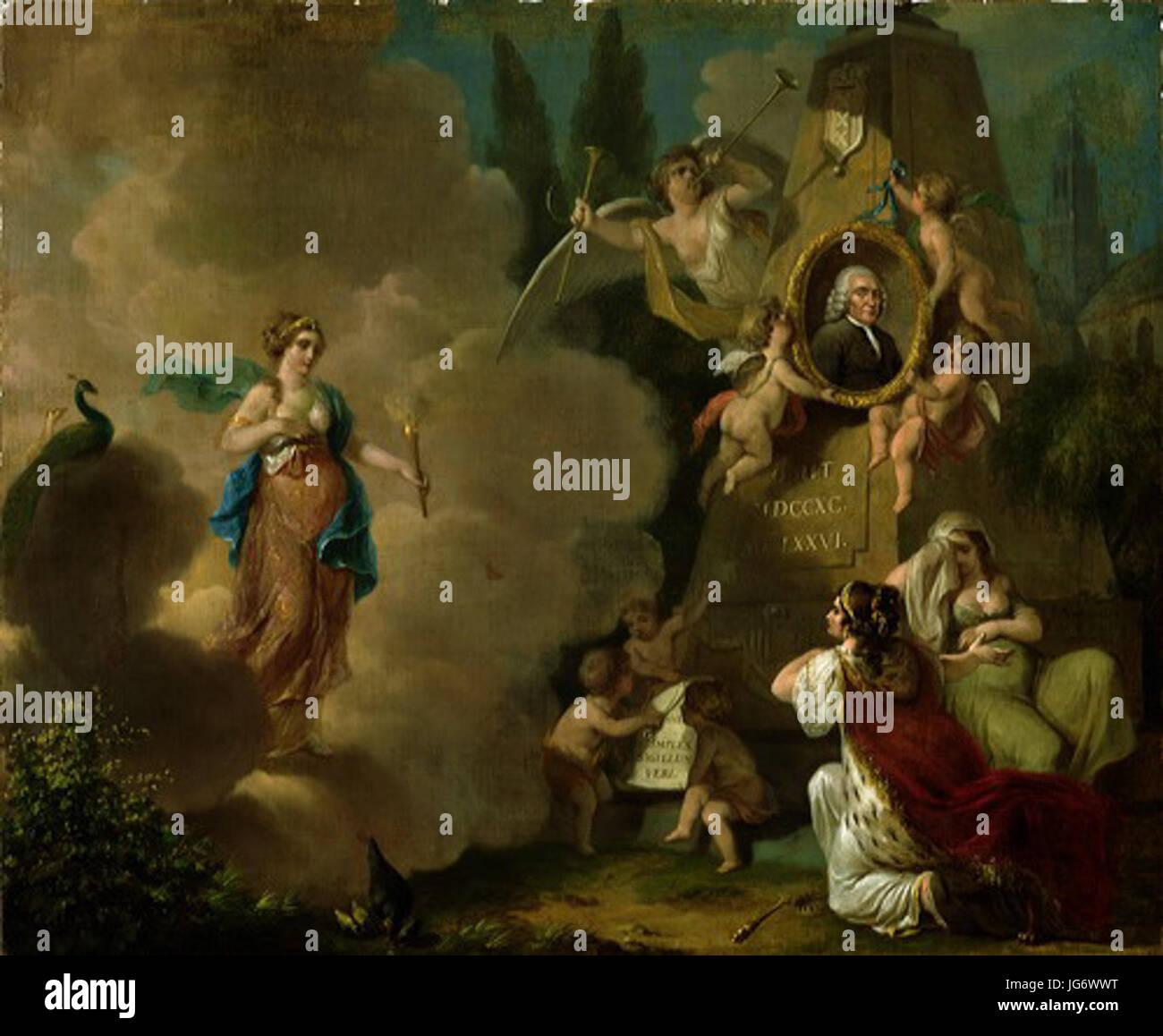 SA 37144-Allegorische voorstelling op het overlijden van Albertus Titsingh 281714-179029 - Stock Image