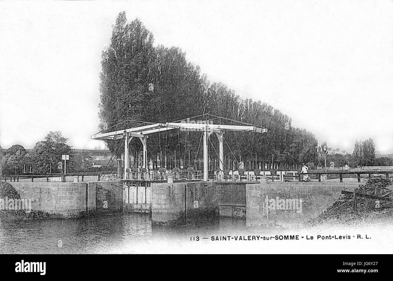 Saint-Valery-double-pont-levis - Stock Image