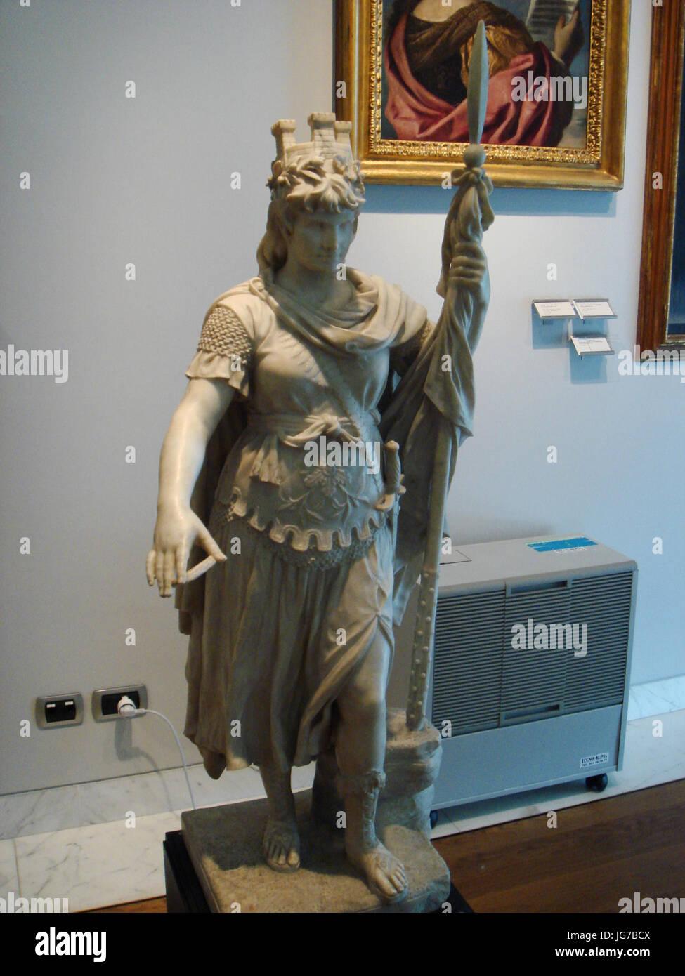 Stefano Gafletti piccola statua della libertà San Marino - Stock Image