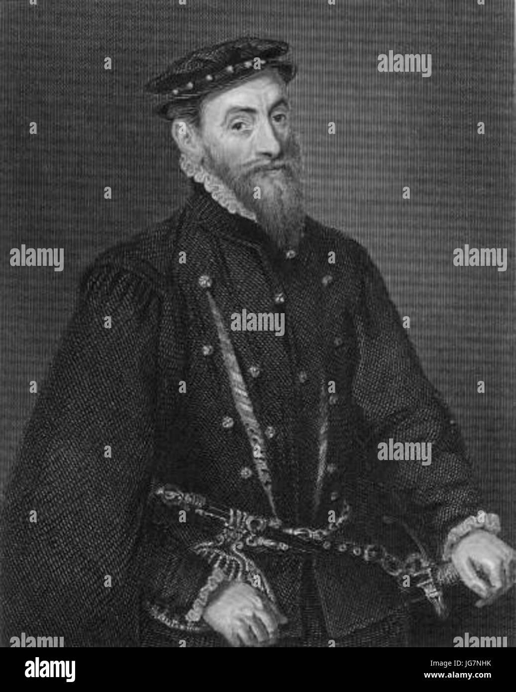 Thomas Gresham after Holbein - Stock Image