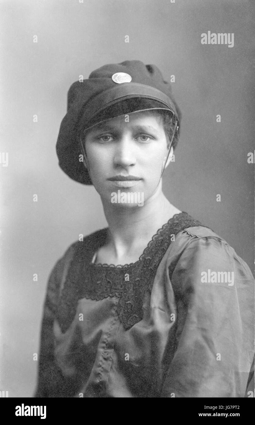 Toini Mäkelä 1918 Stock Photo