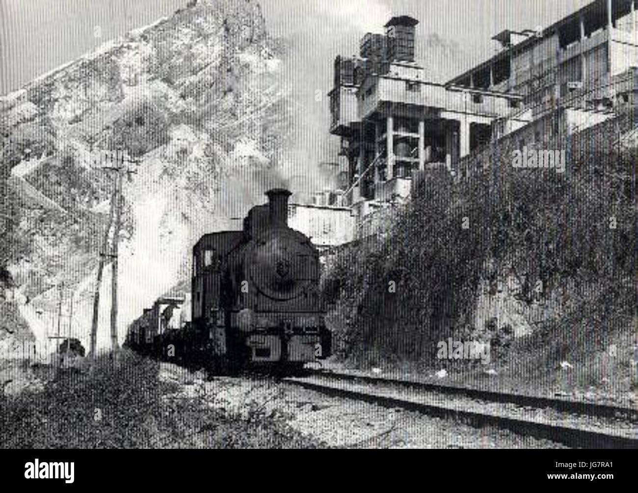 Torano 28Carrara29 - Locomotiva FMC N.7 - Stock Image