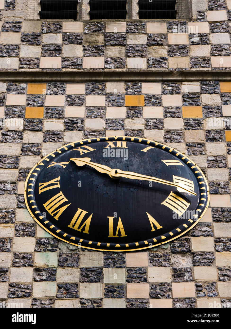 Clock, Minster of St Mary the Virgin, Reading, Berkshire, England - Stock Image