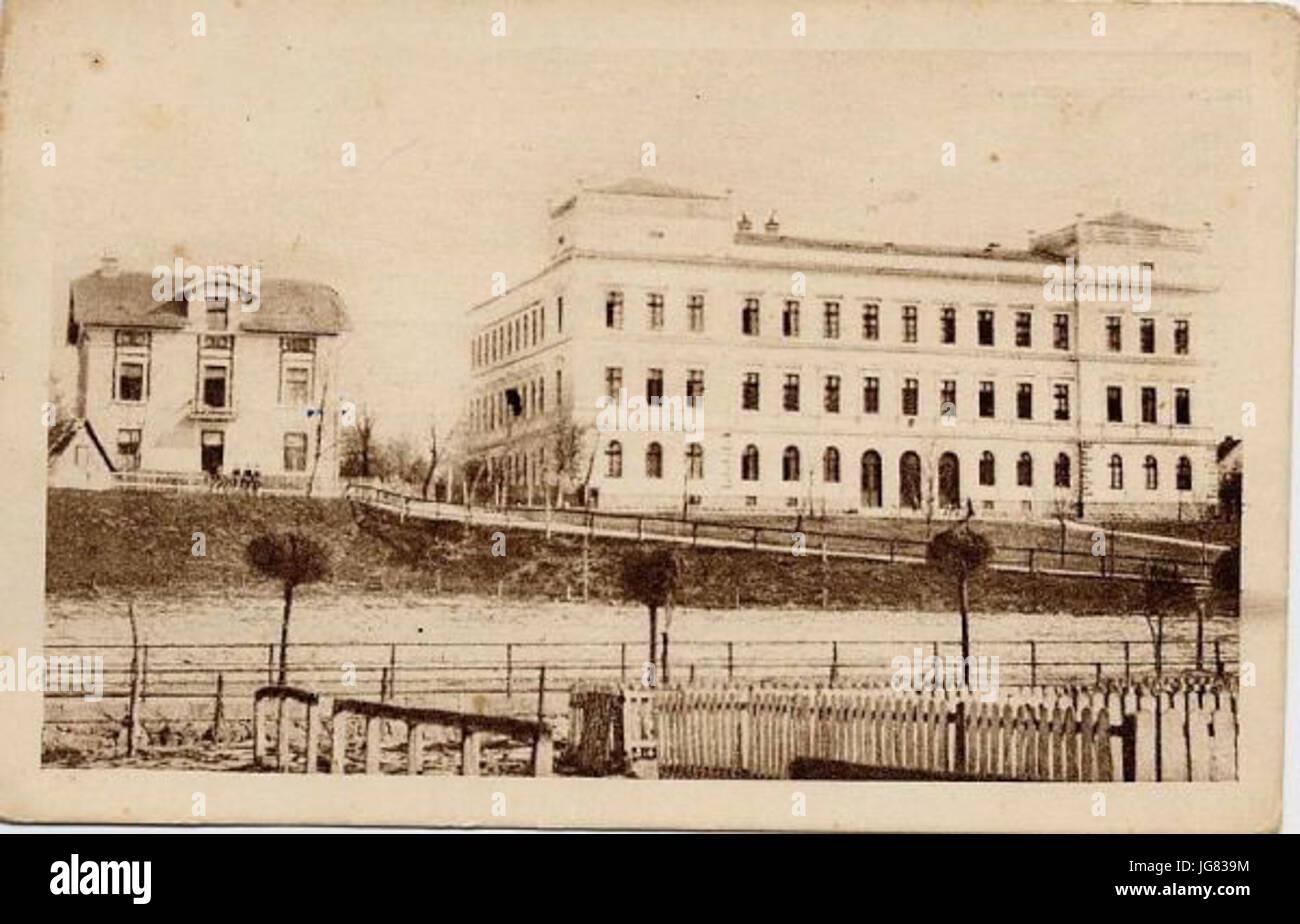 Velika realna gimnazija nakon dogradnje zapadnog krila 1903. godine Stock Photo