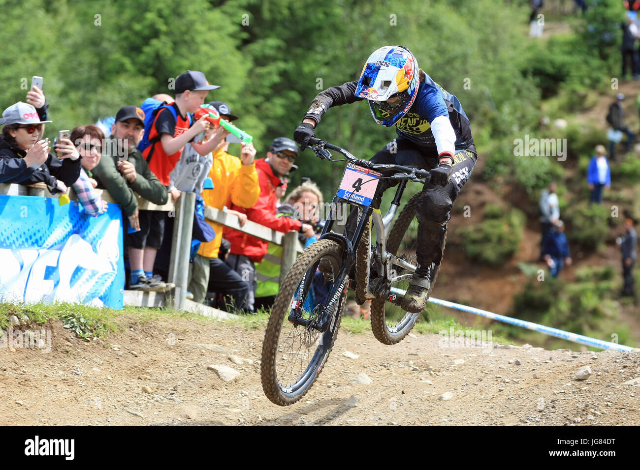 Fort William, Scotland. 4th June, 2017. Myriam Nicole at the Mountain Bike Downhill World Cup. - Stock Image