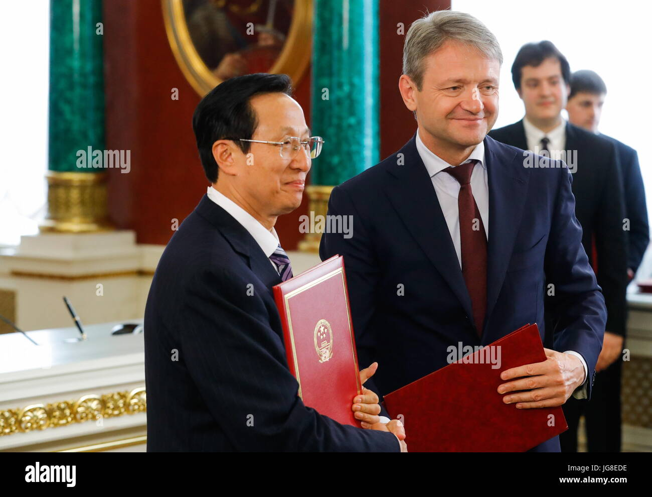China s Agriculture Minister Han Changfu and Russia s e8b8634da