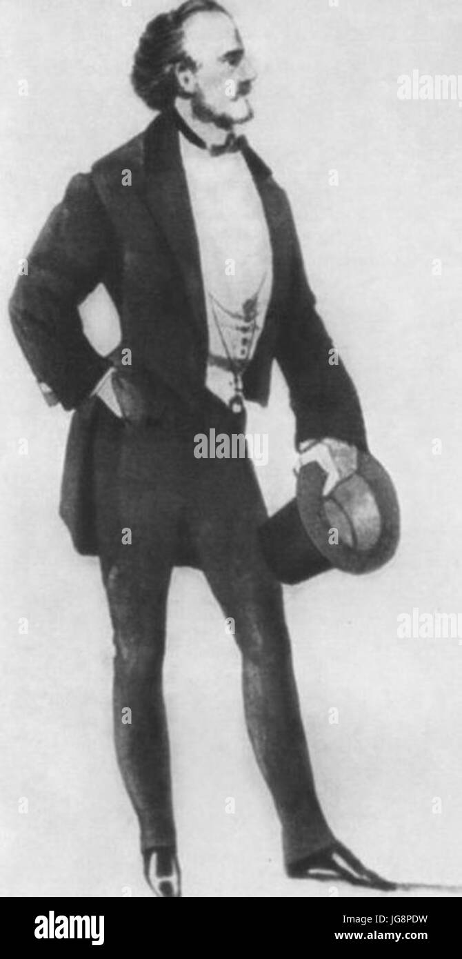 Vladimir Samoylov as Krechinsky.  Wedding Krechinsky.  Alexandrinsky Theatre. 1856 - Stock Image