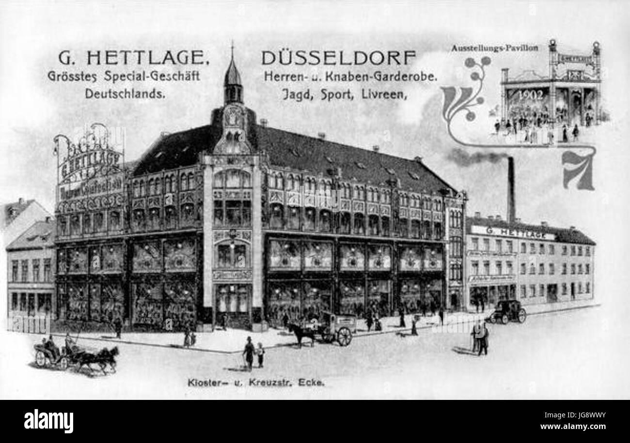 Warenhaus Hettlage an der Klosterstraße 20   20 Ecke Kreuzstraße 20 ...