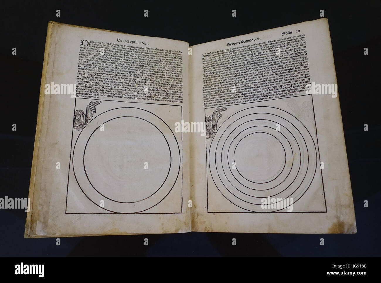 World Chronicle by Hartmann Schedel, woodcuts by Michael Wolgemut and Wilhelm Pleydenwurff, printed in Nuremberg, - Stock Image