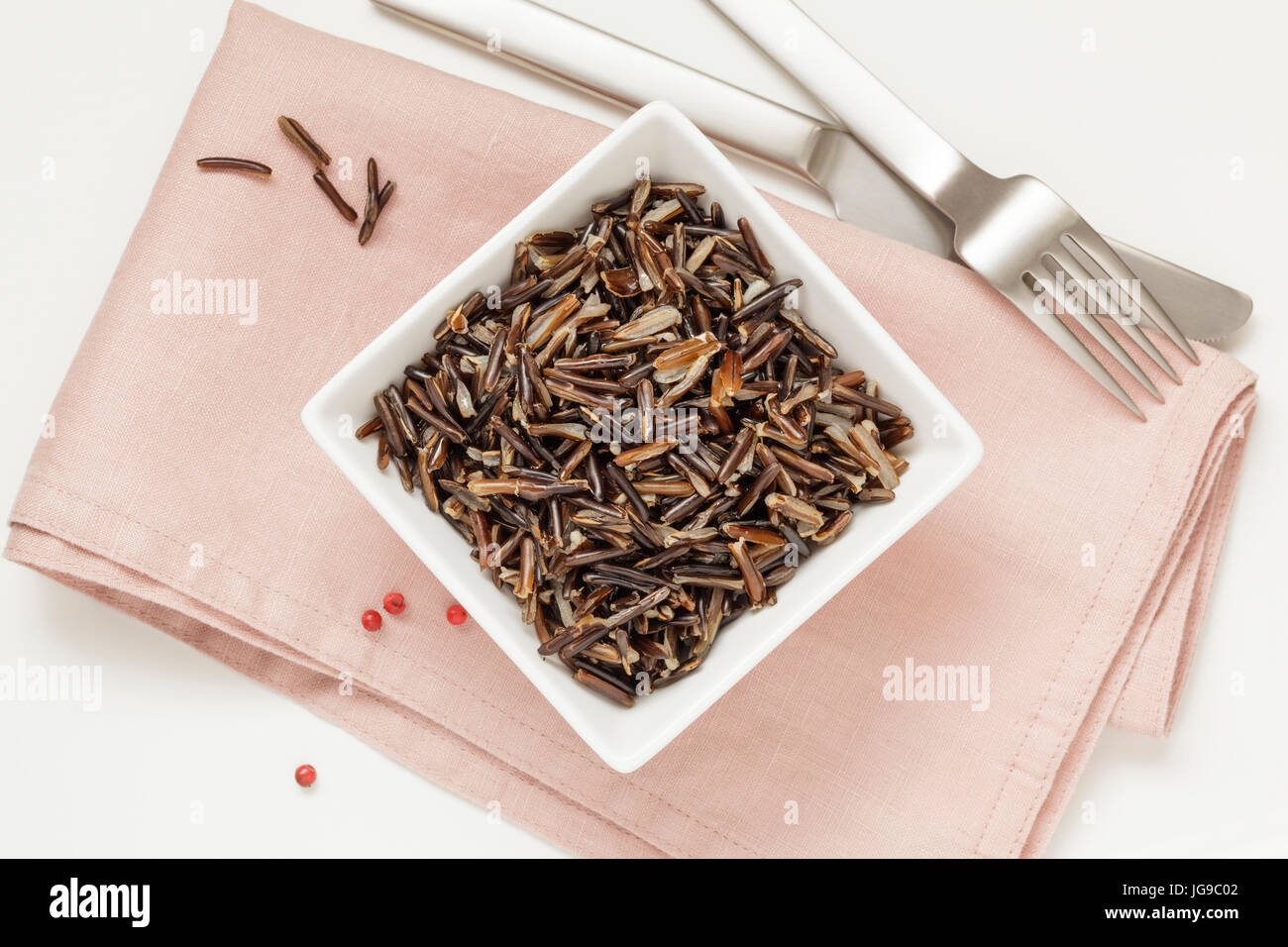 Cooked Wild Rice 'Caviar of Grains' - Stock Image
