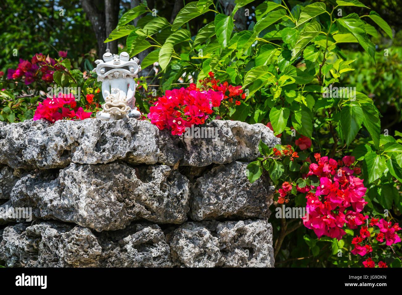 on Taketomi Island, Okinawa Prefecture, Japan. - Stock Image